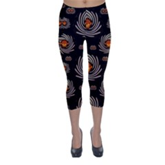 Seeds Decorative With Flowers Elegante Capri Winter Leggings