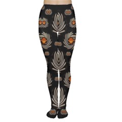 Seeds Decorative With Flowers Elegante Women s Tights