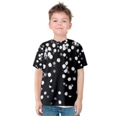Little Black and White Dots Kid s Cotton Tee
