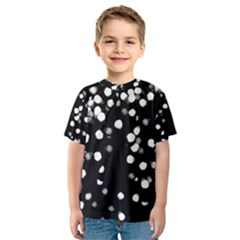 Little Black and White Dots Kid s Sport Mesh Tee