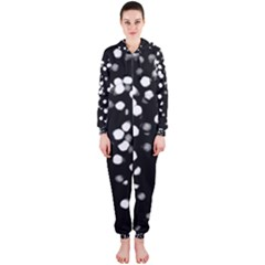 Little Black And White Dots Hooded Jumpsuit (ladies)