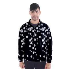 Little Black And White Dots Wind Breaker (men)