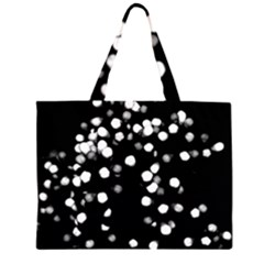 Little Black and White Dots Large Tote Bag