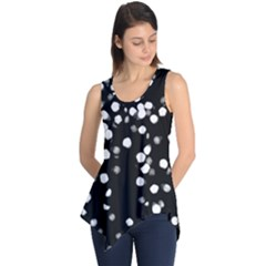 Little Black And White Dots Sleeveless Tunic