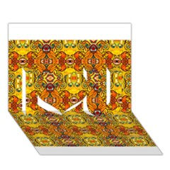 ROOF I Love You 3D Greeting Card (7x5)