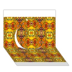 Roof Circle 3d Greeting Card (7x5)