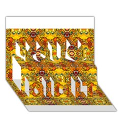 Roof You Did It 3d Greeting Card (7x5)