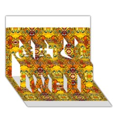ROOF Get Well 3D Greeting Card (7x5)