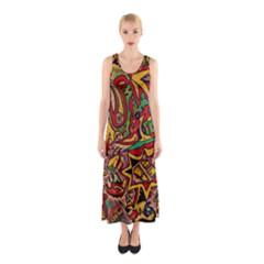 4400 Pix Full Print Maxi Dress