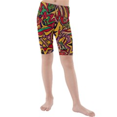 4400 Pix Kid s Mid Length Swim Shorts