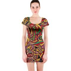 4400 Pix Short Sleeve Bodycon Dress