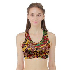 4400 Pix Women s Sports Bra With Border