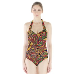 4400 Pix Women s Halter One Piece Swimsuit