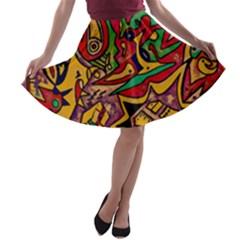 4400 Pix A-line Skater Skirt