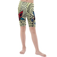 BIPOLAR FREE WILL Kid s Mid Length Swim Shorts