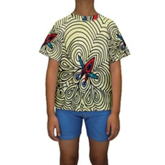 BIPOLAR FREE WILL Kid s Short Sleeve Swimwear
