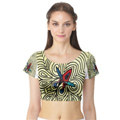 BIPOLAR FREE WILL Short Sleeve Crop Top (Tight Fit)