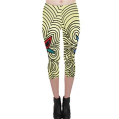 BIPOLAR FREE WILL Capri Leggings