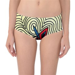 BIPOLAR FREE WILL Mid-Waist Bikini Bottoms