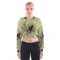 BIPOLAR FREE WILL Women s Cropped Sweatshirt