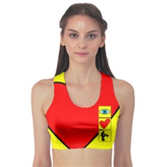 I Love Zouk Sports Bra