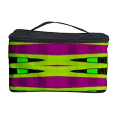 Bright Green Pink Geometric Cosmetic Storage Cases