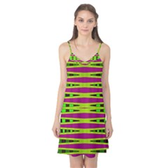Bright Green Pink Geometric Camis Nightgown