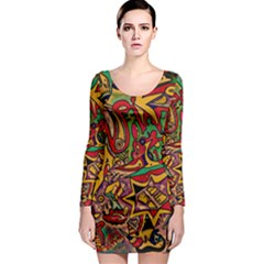 Bipolar Free Will Long Sleeve Bodycon Dress