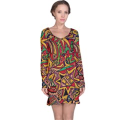 BIPOLAR FREE WILL Long Sleeve Nightdress