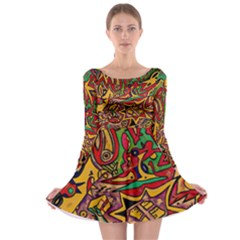 BIPOLAR FREE WILL Long Sleeve Skater Dress