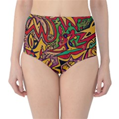 BIPOLAR FREE WILL High-Waist Bikini Bottoms