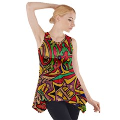 Bipolar Free Will Side Drop Tank Tunic