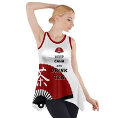 Keep Calm And Drink Tea - asia edition Side Drop Tank Tunic