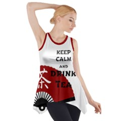 Keep Calm And Drink Tea - light asia edition Side Drop Tank Tunic