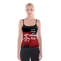 Keep Calm And Drink Tea - dark asia edition Spaghetti Strap Top