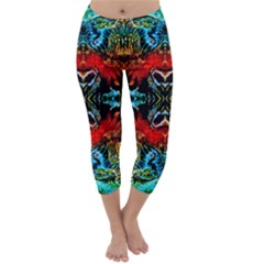 Colorful  Underwater Plants Pattern Capri Winter Leggings