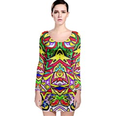 Photoshop 200resolution Long Sleeve Bodycon Dress
