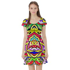 Photoshop 200resolution Short Sleeve Skater Dress