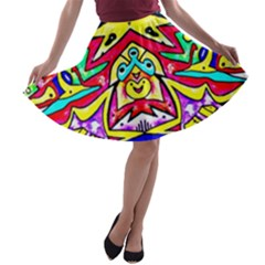 Photoshop 200resolution A-line Skater Skirt