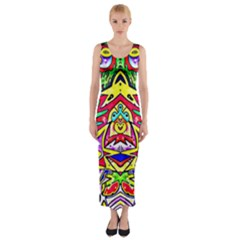 Photoshop 200resolution Fitted Maxi Dress