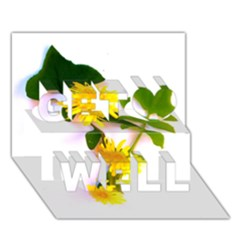 Margaritas Bighop Design Get Well 3d Greeting Card (7x5)