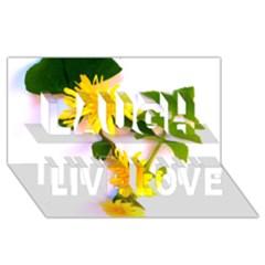 Margaritas Bighop Design Laugh Live Love 3d Greeting Card (8x4)