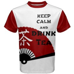 Keep Calm And Drink Tea - light asia edition Men s Cotton Tee