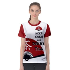 Keep Calm And Drink Tea   Asia Edition Women s Sport Mesh Tee