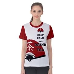Keep Calm And Drink Tea   Asia Edition Women s Cotton Tee