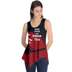 Keep Calm And Drink Tea - dark asia edition Sleeveless Tunic
