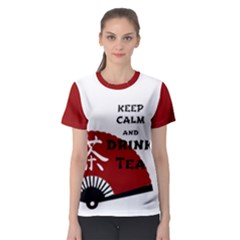 Keep Calm And Drink Tea - light asia edition Women s Sport Mesh Tee