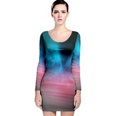 Aura by Bighop collection Long Sleeve Velvet Bodycon Dress