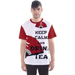 Keep Calm And Drink Tea   Asia Edition Men s Sport Mesh Tee