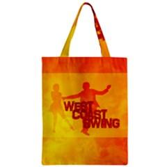 West Coast Swing Zipper Classic Tote Bag
